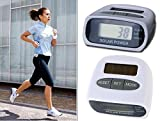 #2: Solar Power Calorie Consumption Run Step Pedometer Distance Counter with LCD Screen-White