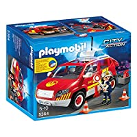 Playmobil City Action Fire Brigade car with Lights