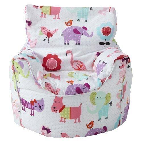 Ready Steady Bed Kinder Sitzsack Sessel Niedliche Tiere Design Fertig Gefüllt