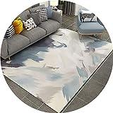 SESO UK-CAR Haushalt rechteck Rutschfeste Teppich für europäischen Stil Wohnzimmer Schlafzimmer geometrische Teppich Dicke 8mm (größe : 120X160cm)