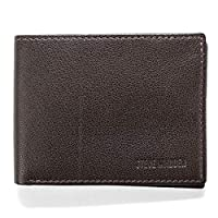 steve madden Men's Leather RFID Wallet Extra Capacity Attached Flip Pocket, Brown (Smooth Grain), One Size