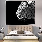 Hjer Leopard Muster Schwarz Tapisserie Wandteppich Bohemian Wandbehang Wandteppiche Wand Decke Wand Kunst Wand Dekor Strand Tapestry Sunset Tapestry Indische Wand-Dekor,A