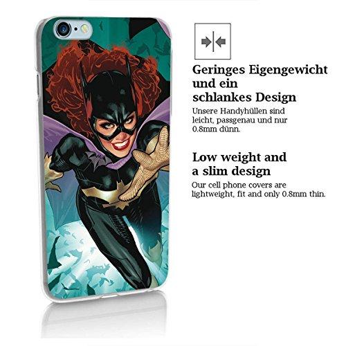 "finoo | iPhone 7 Hard Case Handy-Hülle ""Batman"" Motiv | dünne stoßfeste Schutz-Cover Tasche mit lizensiertem Muster | Premium Case für Dein Iphone| Batman closeup Batgirl full"