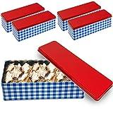 4er Keksdose Aufbewahrungsdosen Vorratsdosen Aufbewahrungsbox Set Metall