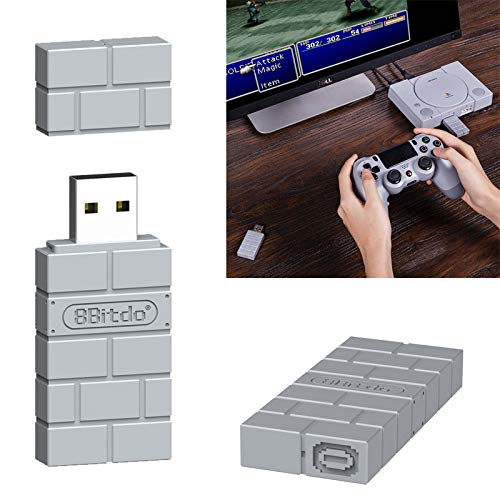 MeterMall Portable 8Bitdo USB Wireless Bluetooth Adapter Gamepad Receiver (Wii-remote-special Edition)