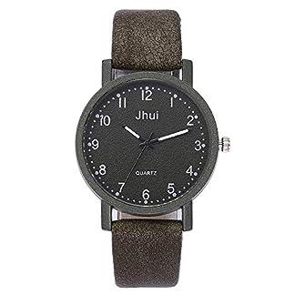 Lolamber-Armbanduhr-fr-Damen-Herren-Slim-Uhr-Armband-Frauen-Leder-Geschfts-Klassisch-Analog-Quarz-Dnn-Armbanduhr-mdchen-Luxus-Elegant-Schwarz-Uhr-mit-Schwarz-Zifferblat