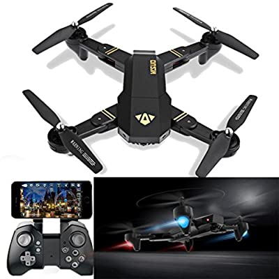 VISUO XS809HW RC Quadcopter Wifi FPV Drone,Drone Gyro 2.4G Altitude Hold [RC Drones With 2.0 MP 720P HD Camera], Selfie Foldable RC Quadcopter with Altitude Hold [Easy to Fly for Beginner]