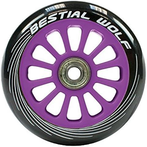 Rueda para Patinete Scooter Morada de 100mm (una unidad) - Wheel