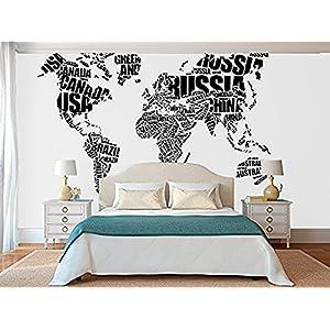 Fotomural Vinilo Pared Mapa tipográfico | Varias Medidas 100x70cm | Ideal para la decoración de comedores, Salones | Motivos Paisajísticos | Urbes, Naturaleza, Arte Diseño Elegante