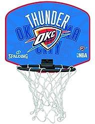 Spalding Ball NBA Miniboard Oklahoma City 77–633z, color naranja/azul, One size, 3001588012717