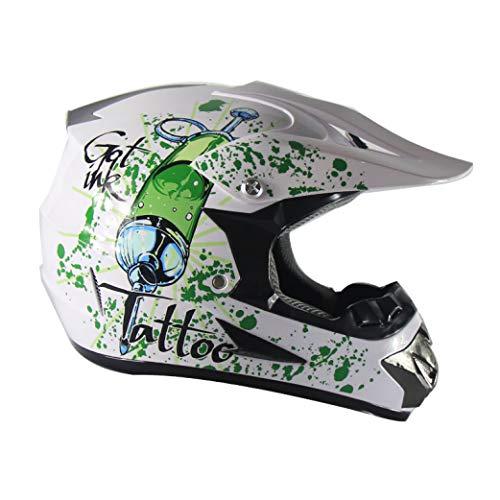 OLEEKA Erwachsene Motocross Helm Full Face MTB Sturzhelm Offroad Downhill Quad Moto Bike MX ATV Motorradhelm Set für Männer Wommen -