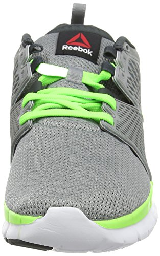 Reebok ZQuick Dash, Running Entrainement Homme Gris (flat Grey/gravel/solar Green/white)