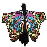 BYSTE Donne Ali delle Farfalle Scialle sciarpe Le signore Nymph Pixie Pavone Poncho Costume Accessorio (Multicolore)