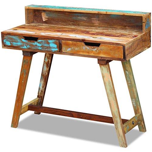 vidaXL Massivholz Büro Schreibtisch Computertisch Arbeitstisch Vintage Antik -