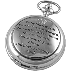 A E Williams 4859SK Welsh mens mechanical pocket watch with chain