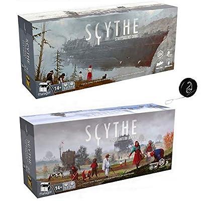 Lot de 2 Extensions Scythe Français : Conquérants du Lointain + Stratèges des Cieux + 1 Yoyo Blumie