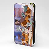 Cartoons Comic Printed Phone Flip Case Cover For Samsung Galaxy S7 - Lady And The Tramp - S-T1168