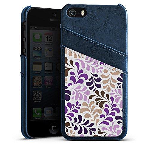 Apple iPhone 6 Housse Étui Silicone Coque Protection Ornements Motifs pixélisés Motif Étui en cuir bleu marine