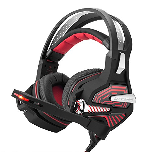 beexcellent 7.1 Gaming Headset Soundtrack Cool gm-9 Für PC PS4 Laptop schwarz/rot
