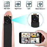 Mini Kamera, 1080P HD Videorecorder Tragbare WLAN Netzwerk Klein Kamera Baby Überwachung mit Bewegungsmelder, App Steuerung für IOS und Android MEHRWEG