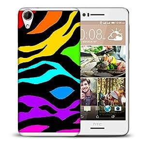 Snoogg Colorful Zebra Skin Designer Protective Back Case Cover For HTC DESIRE 728 DUAL SIM