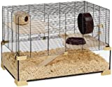 Ferplast Karat 80 57056217W1 Hamster / Mouse Cage 78.5 x 45.5 x 52.5 cm Black