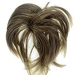 Alle Farben sind erhältlich, Scrunchie Haarteile Spitzig Hochfrisur Dunkelblond Mischung