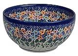 Traditionelle Polnische Keramik, handgefertigte Salat oder Dessert Schüsseln, eine Salat Schale mit Muster im Bunzlauer Stil ?19 cm (1500 ml), M.704.DAISY