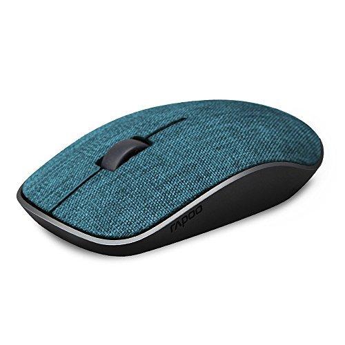 Kabellose Maus, Rapoo 2,4 Stoff USB-Kabellose Mäuse Optische PC Laptop Computer-Maus mit Nano-Empfänger, 1000 dpi für Windows Mac Macbook Linux (Blau)