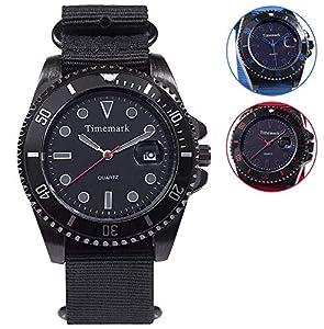 Prem-TM1091 Reloj Pulsera Lona analógico Estuche, Multicolor (TM1091)