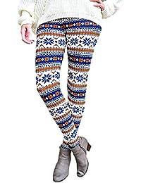 TININNA Long Leggings à Motifs Slim Skinny Stretch Sexy Extensible Pantalon Caleçons Collants Sans Pieds ou Caleçon pour Femme Jeune Fille Sexy Girl