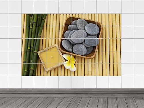 plato de azulejos con piedras esotéricos vela (azulejo: 25x20cm // Imagen: 135x90cm (BxH))