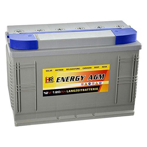 HR Energy AGM 12V 120Ah kurz&grau
