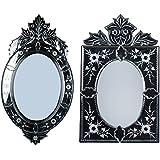 MADHUSUDAN GLASS WORKS Mirror & Plywood Wall Mirror (Pack Of 2, Silver) - B07BJ49JVT