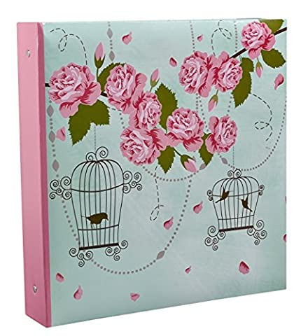 Arpan 10 x 15 cm Large Vintage Rose Bird Cage Style Ring Binder Photo Album For 500 Photo's