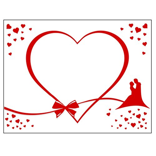Preisvergleich Produktbild HOCHZEITSHERZ Laken zum Ausschneiden, GRATIS 2 Scheren & Geschenkkarton, Partyspiel zur Hochzeit, Geschenk Herz Laken (Brautpaar)