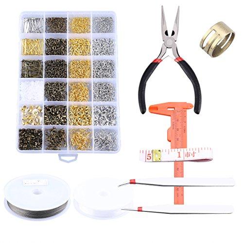 Schmuck-reparatur Liefert (OUNONA Offene Biegeringe Schmuck Perlen machen und Reparatur-Tools Kit)