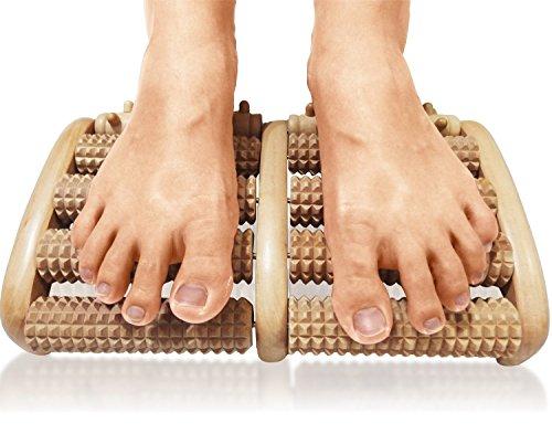 Iiniim-5file di legno a rullo massaggiatore per piedi strumento terapia per agopressione per alleviare lo stress