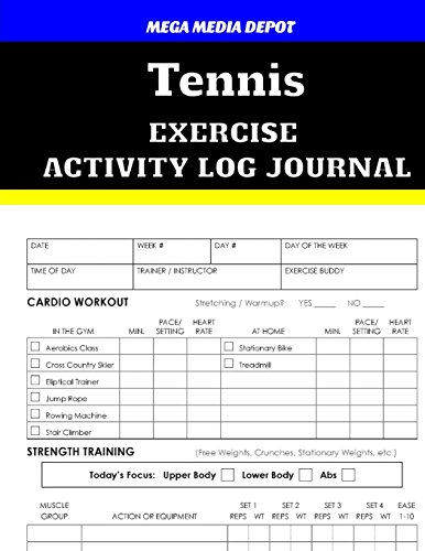 tennis-exercise-activity-log-journal