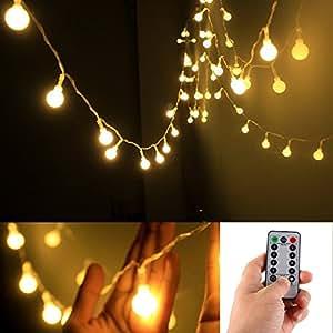 remote timer 5 meter 50 led outdoor globe string. Black Bedroom Furniture Sets. Home Design Ideas