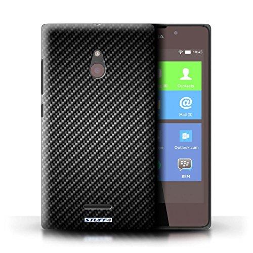 Kobalt® Imprimé Etui / Coque pour Nokia XL / Pourpre conception / Série Motif de Fibre de Carbone Gris