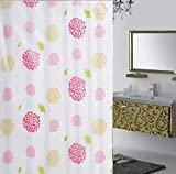 GZD Girasole Tenda della doccia impermeabile muffa facile da pulire PEVA tenda della doccia (1 pacchetto di 2) , 150*180