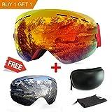 Maschera da sci, antiappannamento, con protezione UV, con...