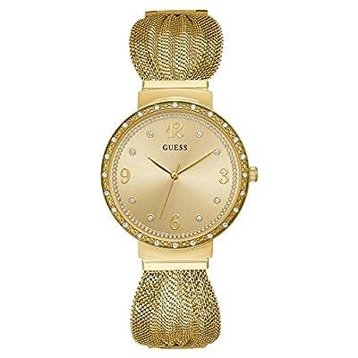 Guess Reloj Analógico para Mujer de Cuarzo con Correa en Acero Inoxidable W1083L2