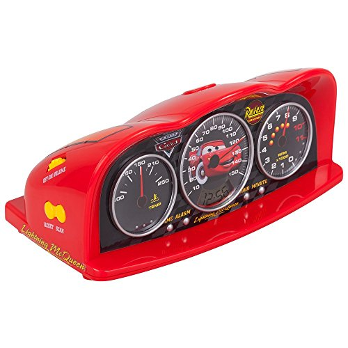 Disney 250161 Disney Cars Radiowecker Alarm Clock mit Zeitanzeiger rot (Disney Wecker Cars)