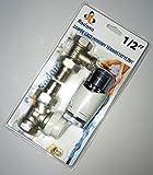 "SET 1/2"" Gerade Rücklaufverschraubung Thermostatventil Thermostatkopf Heizung Heizkörper"