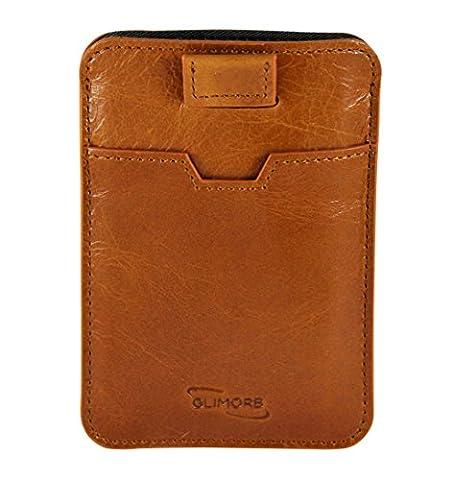 GlimOrb Meilleur RFID portefeuille - Portefeuille en cuir pour cartes de crédit - RFID Porte-monnaie avec compartiments. Pour tout votre cartes-Léger portefeuille de sécurité - hommes et les femmes