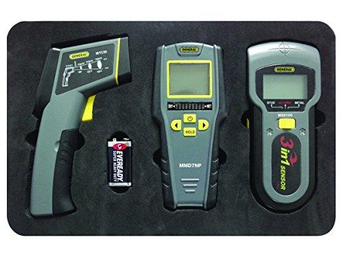 General Tools Restoration Kit mit IRT, Feuchtemessgerät und Bolzen, Metall und Voltage Detector (KT100) (Kit Voltage Detector)