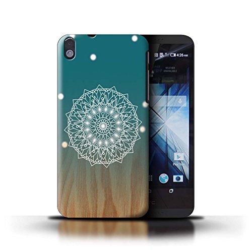 Stuff4® Hülle/Case für HTC Desire 816 / Mandala/Holz Muster/Ombre Muster Kollektion