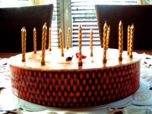 16 Kuchenkerzen in GOLD // Deko für Cupcakes, Muffins und Torten // Kerzen zum Geburtstag oder Goldhochzeit